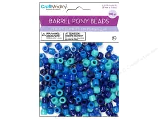 beading & jewelry making supplies: Multicraft Bead Barrel Pony The Blues 200pc