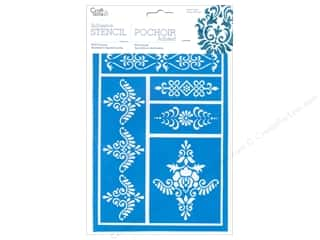 craft & hobbies: Craft Decor Stencil Adhesive Brocade