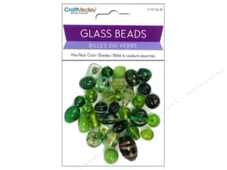 Multi Colored Yarn: Multicraft Bead Glass Color Shade Green 1.2oz