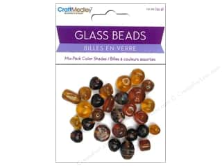 Multi Colored Yarn: Multicraft Bead Glass Color Shade Brown 1.2oz