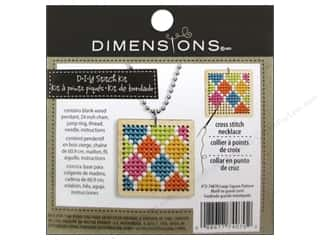 square hoop: Dimensions Cross Stitch Kit Square Pattern Natural