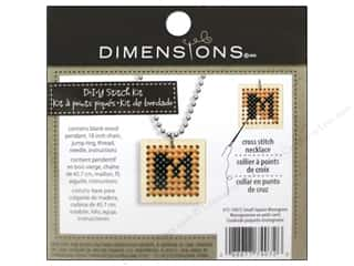 square hoop: Dimensions Cross Stitch Kit Square Monogram Natural