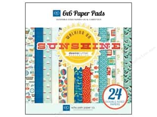 """Bo Bunny Paper Pads 6""""x 6"""": Echo Park Paper Pad 6 x 6 in. Walking On Sunshine"""