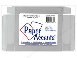 gift certificates: Paper Accents Crystal Clear Boxes 3 3/4 x 5/8 x 5 3/16 in. 25 pc.