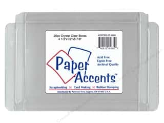 craft & hobbies: Paper Accents Crystal Clear Boxes 4 1/2 x 1/2 x 5 7/8 in. 25 pc.