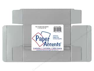 gift certificates: Paper Accents Crystal Clear Boxes 4 1/2 x 2 x 5 7/8 in. 25 pc.