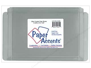 gift certificates: Paper Accents Crystal Clear Boxes 5 3/8 x 1/2 x 7 3/8 in. 25 pc.