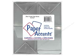 scrapbooking & paper crafts: Paper Accents Crystal Clear Boxes 3 x 3 x 3 in. 25 pc.