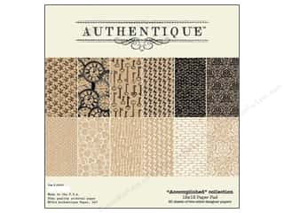 cardstock sale: Authentique Paper Pad 12 x 12 in. Accomplished Collection
