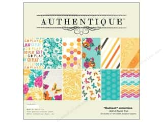 Holiday Sale Designer Papers & Cardstock: Authentique Paper Pad 12 x 12 in. Radiant Collection