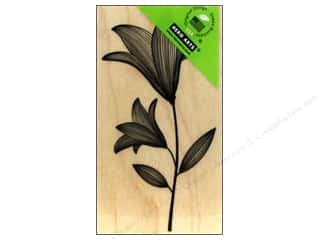 Rubber Stamps: Hero Arts Rubber Stamp Etched Flower With Stem