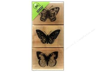 scrapbooking & paper crafts: Hero Arts Rubber Stamp Set Three Artistic Butterflies