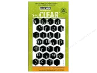 Clearance Art Impressions Rubber Stamp: Hero Arts Poly Clear Stamps Alphabet Hexagons