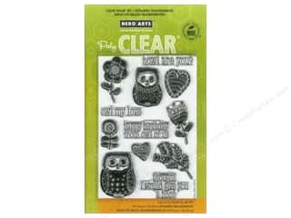Clearance Art Impressions Rubber Stamp: Hero Arts Poly Clear Stamps Howl Are You