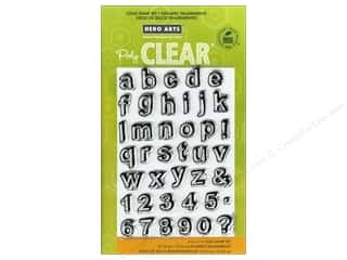 Clearance Art Impressions Rubber Stamp: Hero Arts Poly Clear Stamps Journal Letters