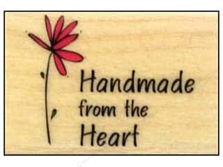 Rubber stamps: Hero Arts Rubber Stamp Handmade From The Heart