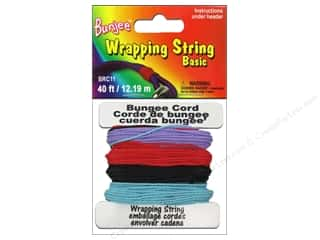 beading & jewelry making supplies: Pepperell Bungee Cord Wrap String Purple/Red/Light Blue/Black