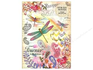 Gifts & Giftwrap: Punch Studio Sticky Notes Portfolio Paisley Dragonfly