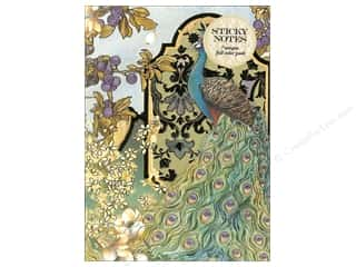 Gifts & Giftwrap: Punch Studio Sticky Notes Padfolio Peacocks In The Garden