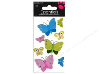 SandyLion Sticker Essentials Butterflies Rhinestones