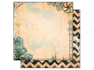 Clearance Riverside Construction Paper: Bo Bunny 12 x 12 in. Paper Somewhere In Time Collection Imagination (25 sheets)