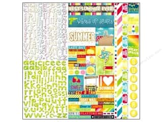 Clearance Bo Bunny Paper Collection Packs: Bo Bunny Cardstock Stickers Combo Lemonade Stand (6 sets)