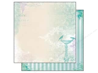 Clearance Bo Bunny Paper Collection Packs: Bo Bunny Paper 12x12 Enchanted Garden Moonlight (25 sheets)