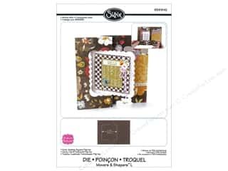Sizzix Movers & Shapers L Die Card, Scallop Square Flip-its by Stephanie Barnard