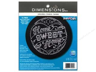 "weekly specials Dimensions Applique Kit: Dimensions Embroidery Kit 6""x 6"" Home Sweet Home"