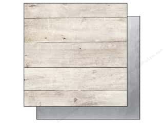 Clearance Bazzill Cardstock Just the Edge: Simple Stories Paper 12 x 12 in. The Story Of Us Wood/Silver Foil (25 sheets)