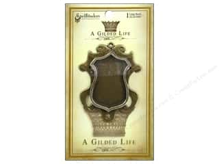 Weekly Specials Card Making: Spellbinders Bezel Gilded Life Shield Large Gold