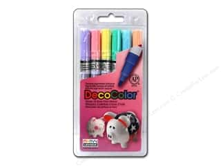 craft & hobbies: Uchida Decocolor Paint Marker Set - Fine Tip - Pastels 6 pc.