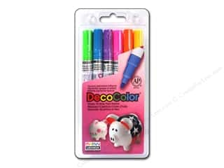 craft & hobbies: Uchida Decocolor Paint Marker Set - Fine Tip - Brights 6 pc.