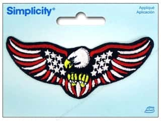 Simplicity Applique Iron On US Flag With Eagle