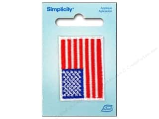 Simplicity Applique Iron On Small USA Flag