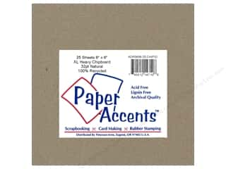 Paper Accents Chipboard 6 x 6 in. 32 pt. XL Heavy Natural (25 pieces)