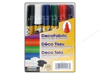 Uchida DecoFabric Paint Marker Set Primary 6 pc.