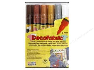 Uchida DecoFabric Paint Marker Set Jewel 6 pc.