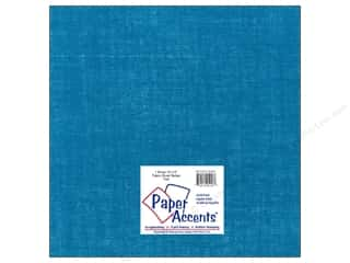 Paper Accents Fabric Sheet 12 x 12 in. Burlap Teal