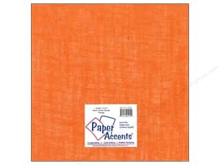 Paper Accents Fabric Sheet 12 x 12 in. Burlap Orange