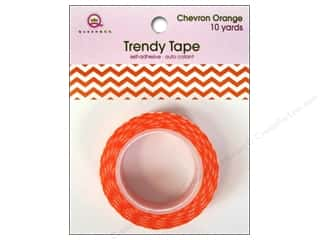 Queen&Co Trendy Tape 10yd Chevron Orange