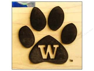 ColorBox Stamp Rubber Wood Mount University of Washington
