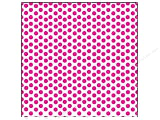 Canvas Corp 12 x 12 in. Paper Hot Pink & White Dot