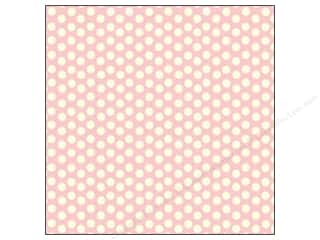 Canvas Corp 12 x 12 in. Paper Pink & Ivory Dot Reverse