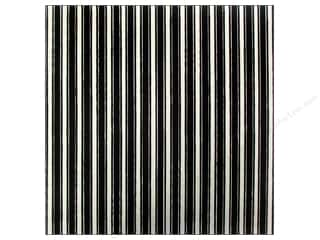 Canvas Corp 12 x 12 in. Paper Black & Ivory French Linen Stripe (15 sheets)