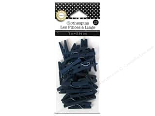 Canvas Corp Mini Clothespins 25 pc. Navy