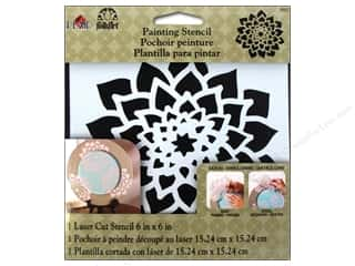 craft & hobbies: Plaid FolkArt Painting Stencils 6 x 6 in. Dahlia