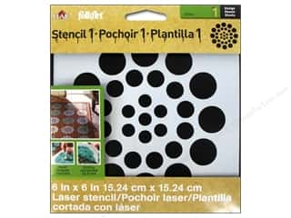 Plaid Stencil Designer Asian Dots