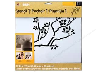 Plaid Stencil Designer Cherry Branch