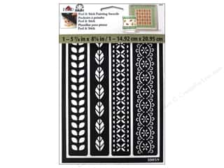 craft & hobbies: Plaid FolkArt Peel & Stick Painting Stencils - Borders